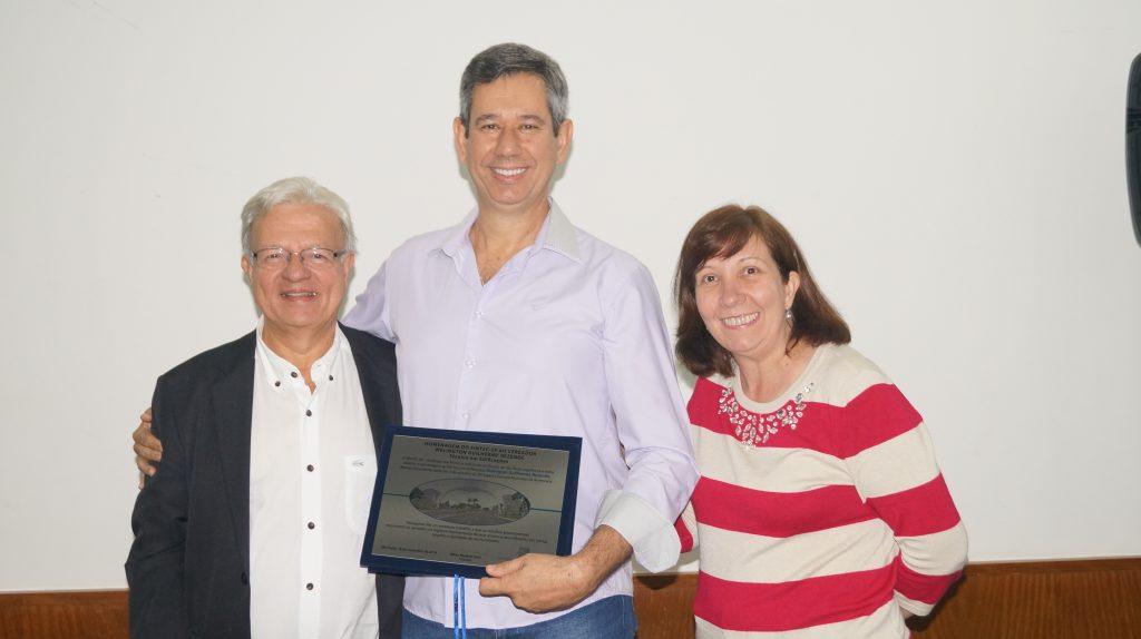 Welington Guilherme Rezende (eleito em Americana), entre Wilson Wanderlei Vieira e Margarete dos Santos