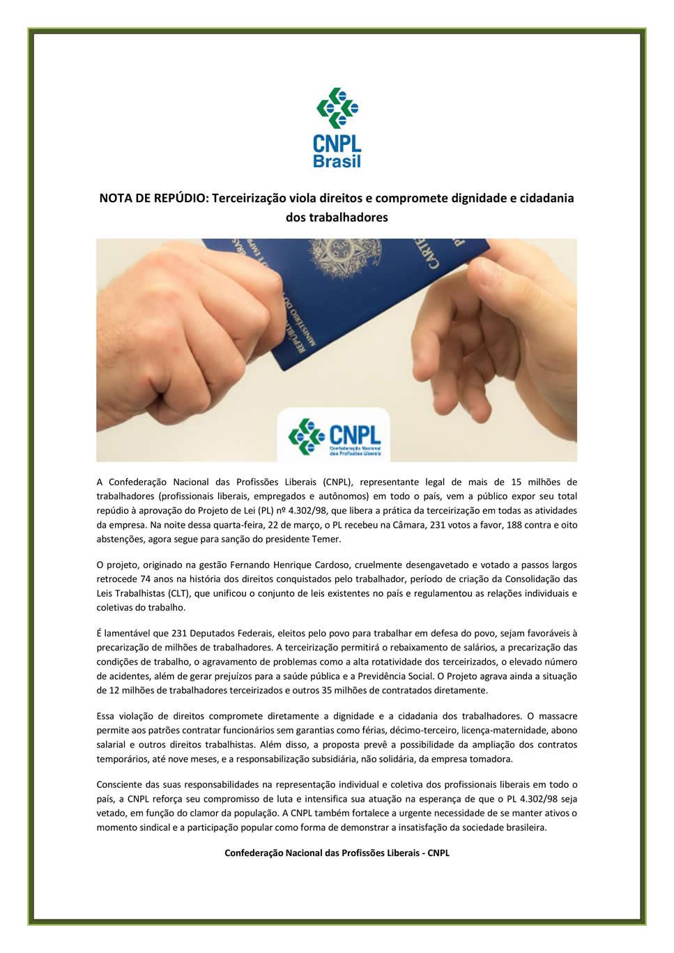 Informativo CNPL 23-03